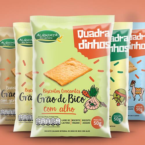 Embalagem para Biscoitos Quadradinhos Alquimya