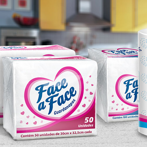 Embalagem para Guardanapo Face a Face