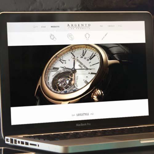 Website para Relógios de Luxo Argento