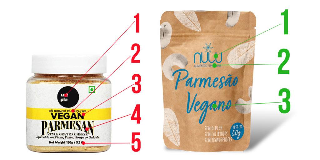 Embalagem de sucesso para queijo vegano.