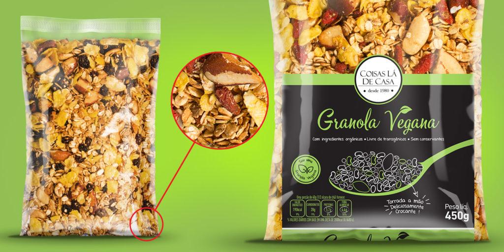 Embalagem de sucesso para granola orgânica