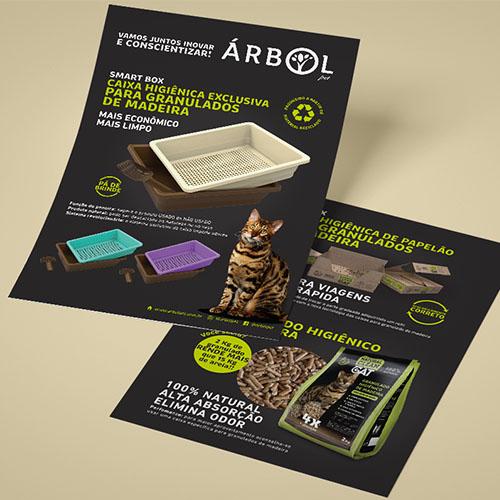Rótulos e Branding para Caixa Higiênica Árbol